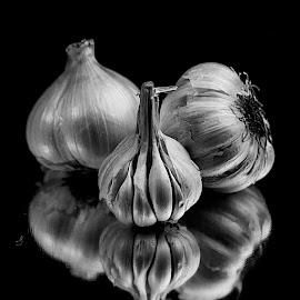 Garlic in B&W by Rakesh Syal - Black & White Objects & Still Life