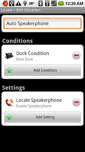 Dock Condition Locale Plug-in