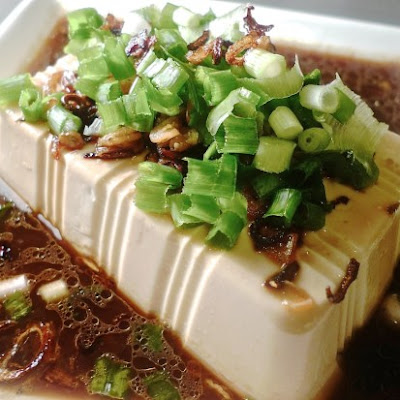 Steam Bean Curd With Hot Shallot Oil