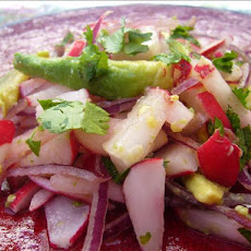 Radish and Avocado Salad - Mexico