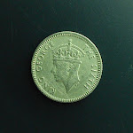 5 Cents, Commissioners of Currency Malaya, 1950, reverse, King George The Sixth.