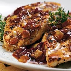 Grilled Chicken With Sweet Chili Grape Sauce