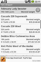 Screenshot of Yarn Shopper