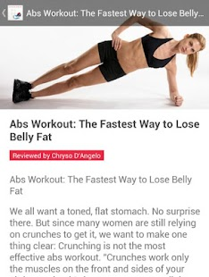 How to Burn Belly Fat Fast - screenshot