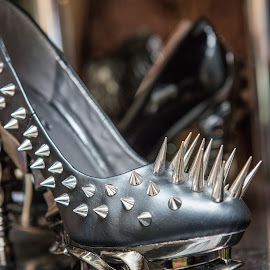 Spikes by Sheldon Anderson - Digital Art Things ( shoes, england, spikes, gothic, unusual, camden, odd )