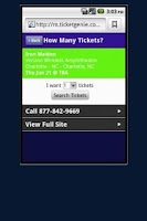 Screenshot of Madonna Tickets