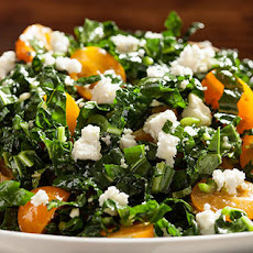Shredded Kale, Tomatoes, Feta, and Mint Salad