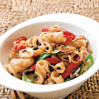 Stir-Fried Squid with Black Bean Sauce