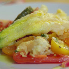 Ricotta-Stuffed Zucchini Blossoms with Panzanella