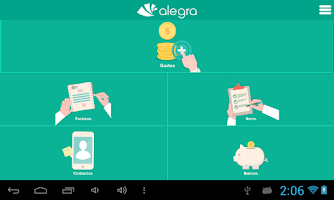 Screenshot of Alegra