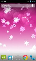 Screenshot of Snowflake Pro Live Wallpaper