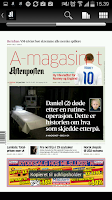Screenshot of Aftenposten eAvis