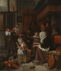 RIJKS: Jan Havicksz. Steen: The Feast of St Nicholas 1668
