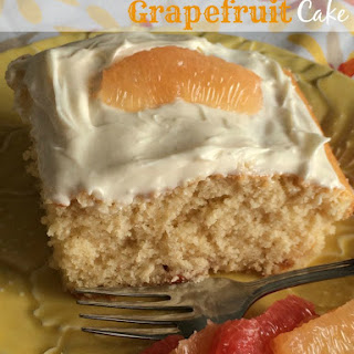 Cream Cheese Frosted Grapefruit Cake #FLGrapefruit