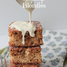 White Chocolate Gingersnap Blondies