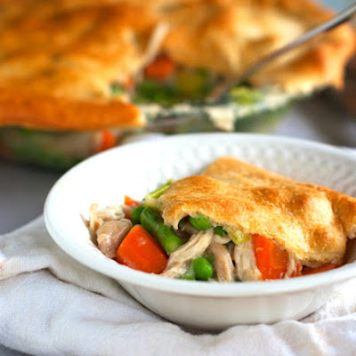 Garlic Chicken and Vegetable Pot Pie
