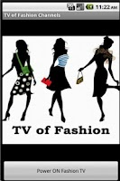 Screenshot of TV of Fashion Channels