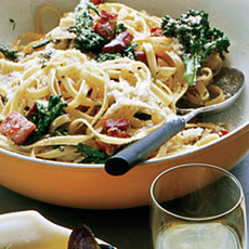 Lemon Fettuccine with Broccoli and Pancetta