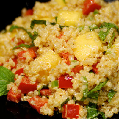 Quinoa with Mango and Curried Yogurt