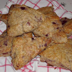 Cherry Mascarpone Cream Scones