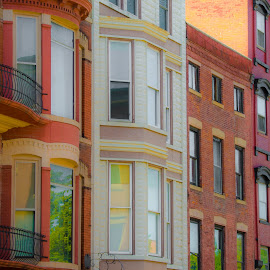 Building Fascades by Gary Hanson - Buildings & Architecture Other Exteriors ( galena, fascades, buildings, historic, row )