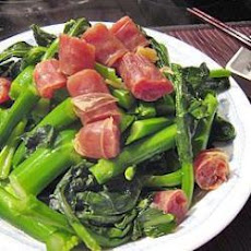 Chinese Sausage and Broccoli Stir Fry