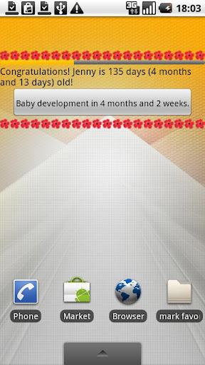 Baby Calendar First Year