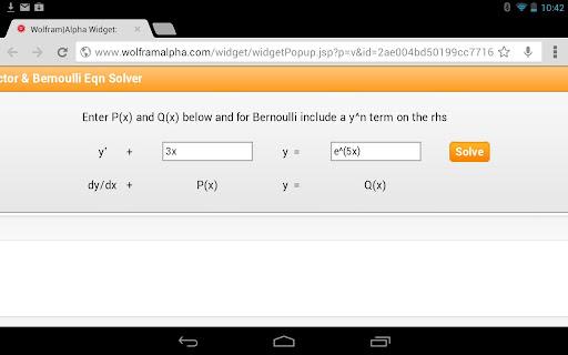 Integrating Factor Calculator