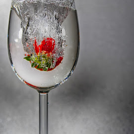 Vine glass splash by Nathan Poole - Food & Drink Fruits & Vegetables