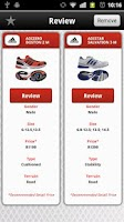Screenshot of Running Shoe Guide