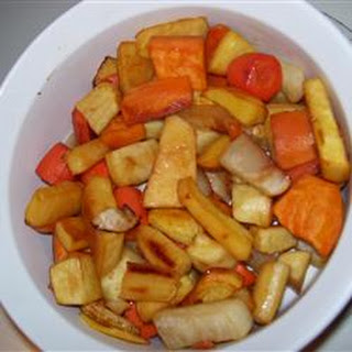 Roasted Root Vegetables With Apple Juice