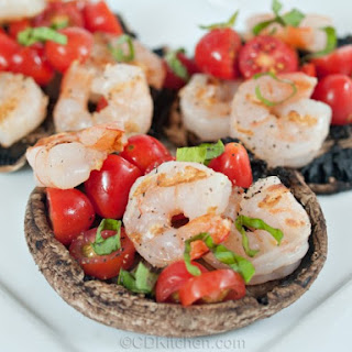 Grilled Portobello Caps With Shrimp