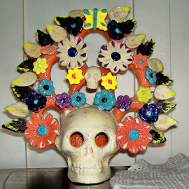 SPIRIT OF SPRING by William Thielen - Novices Only Objects & Still Life ( sculpture, skull, colorful, bright, joy, artistic, flowers, spring, flower )