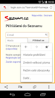 Screenshot of Seznam.cz