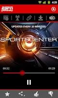 Screenshot of ESPN Radio