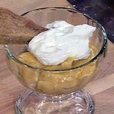 Butterscotch Pudding with Brown Sugar Shortbread Cookies
