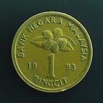 Malaysia 2nd series 1 Ringgit type 2 obverse