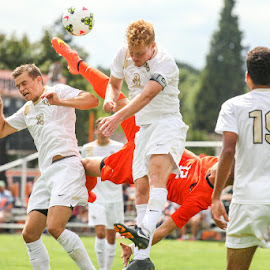 High Kick by Justin Quinn - Sports & Fitness Soccer/Association football ( beavers, oregon state, mls, fifa, soccer )