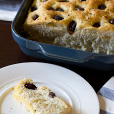 Focaccia Bread with Roasted Garlic and Olives