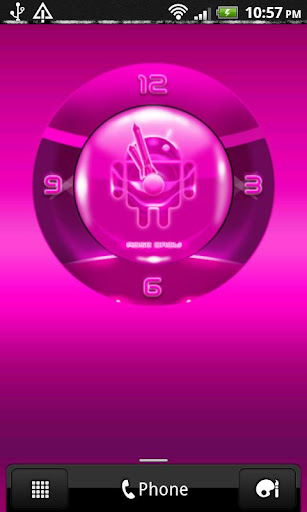 ROSE DROID Pink Clock Widget