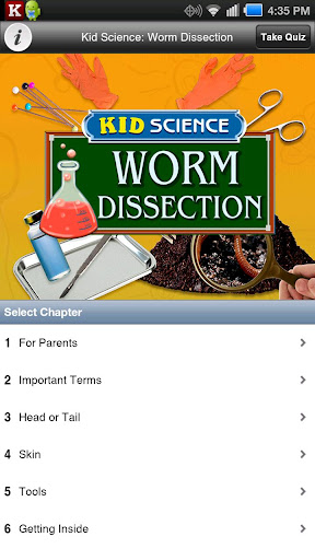 Kid Science: Worm Dissection
