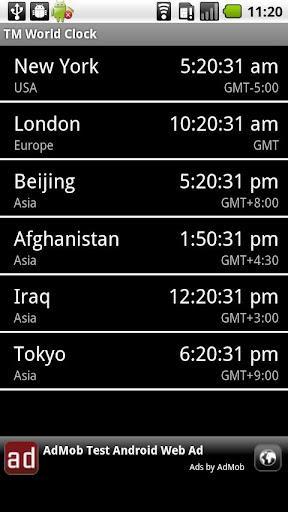 世界時鐘 小工具