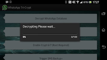 Screenshot of WhatsApp Tri-Crypt