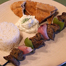 Lamb Souvlaki with Rice