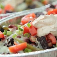 Blue Corn Chip Nachos with Pepper Jack Cheese