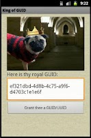 Screenshot of King of GUID - UUID Generator