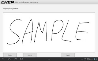 Screenshot of E-Signature