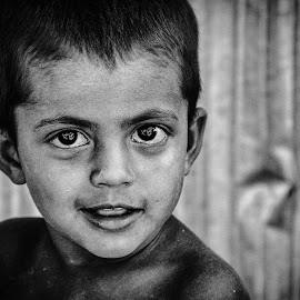 Sparkling Eyes  by Ryan Mercury - Babies & Children Child Portraits ( b&w, sparkling, children, childhood, portrait, eyes )