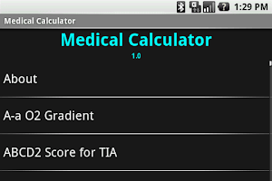 Screenshot of Medical Calculator