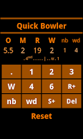 Screenshot of Cricket Scorebook Calculator